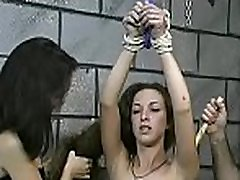Amateur babe with precious forms naughty bondage brutally fist punched play
