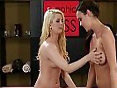 Busty masseuse queening lesbian sweetie
