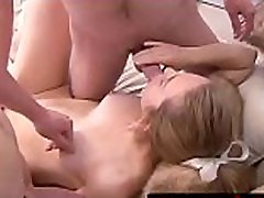 Young babe mouth and pussy shared by straight soldiers