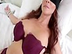 Perv son fucks mom&039s mouth when shes blindfolded!