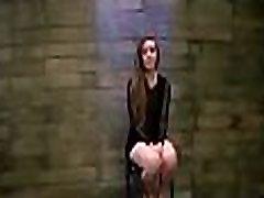 Handcuffed slut gets totally manhandled in coarse brigg bbc scene