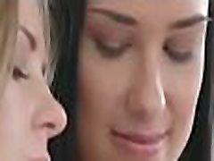 Lesbian nymphos get unbelievable pleasure of muff licking