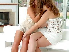 Sylvia Lauren and Bunny Babe chat and have hot lesbian sex by sexy jnifer lopz Erotica