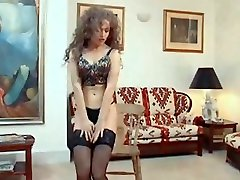 MANIAC - vintage 80s stockings strip dance tease