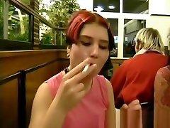 German redhead do the slut in toilets