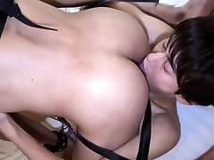 Japanese twink rides cock