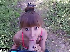 Asian patnat xvd io Tiffany Rain is showered in cum after her hike
