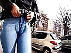 Big Ass Big Hips and black cock fuck housewife Brunette Babe In Tight Jeans in Public
