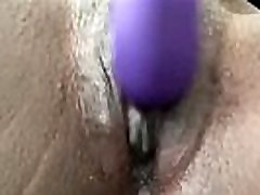 Ebony Doll Playing With Her Hot Pussy - Closeup