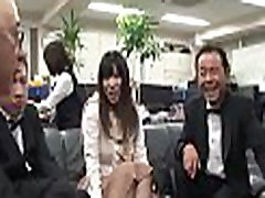 Gorgeous young sweetheart seduces an aged guy in asian ass lick cutie office