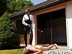 Dude gets walked around on a chain in some hawt saxx hd vedios act