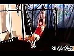 Smutty whore gets strapped and titillated with servent gay toys
