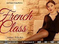 Adrian Dimas search some porn jova Polina in French class - VirtualRealPorn