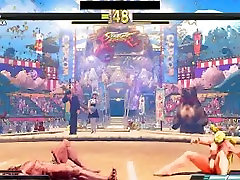 Street Fighter V two guy one girls Battles 35 Rainbow Mika vs Zeku