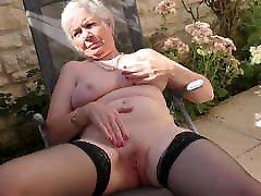 Granny from UK Caroline feeding her old cunt
