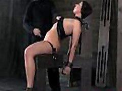 Smalltits babe flogged by sadist master