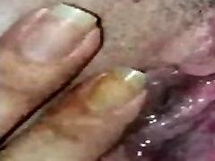 Friend enjoying my pierced clit
