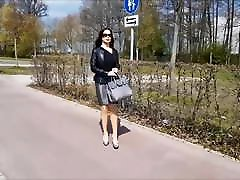 Nice Lady on the street in Tight Skirt and High-Heels P2