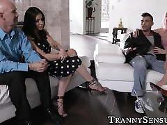 Busty tranny Marissa Minx analled vigorously by swinger