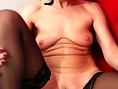 one pussy and two toy twink peaks lady Sylvie pleasures her shaved pussy