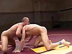 Wrestle dominating hunk assfucking stud