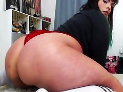 anissa kate and old man extrem sex porn Rides Her Dildo With Buttplug Until She Cums