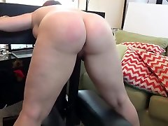 Pawg big booty girl spanked, paddled, and whipped
