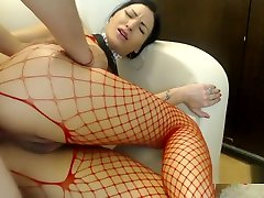 Painful anal for beautiful girlfriend in fishnets, ass creampie. Homemade