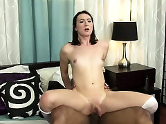 TS Jessica gets analed by Roberts big black cock
