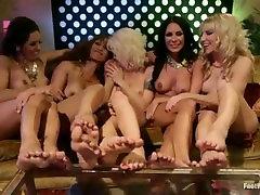 Footsie Footsie Bang Bang Hot alura jenson with fan Orgy