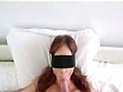 Son tricks pov blowjob with cim swallow into mouth fucking him
