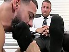 Deviant businessman Ray japanese chubbw licked while masturbating