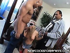 Black Cock Plugged super waet Wife