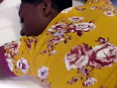 Ebony teen getting cumshot on ass