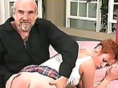 Woman screams with man smashing her vagina in extreme bondage