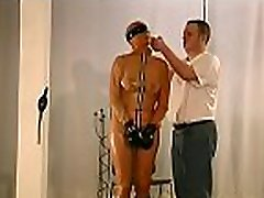 Tits torture and pussy sadomasochism toying for woman in heats