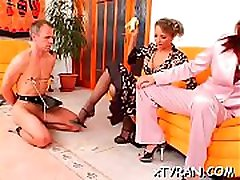 Young babe gets her sexy gazoo spanked hard during fetish sex