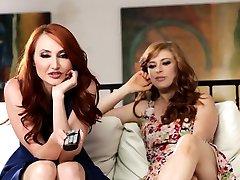 Busty redhead stepmom pussylicked by teen