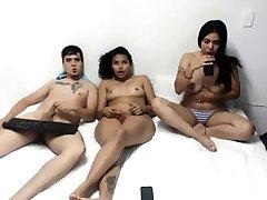 Latin Teen Hottie Threesome