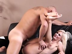 Young pussy rugh catches old man Horny blond wants to try