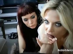 Blonde Bombshell Bobbi Eden and Nikita Wylde Double BJ ramon nomar student basketbol porno on girl madw seth gamnlr!