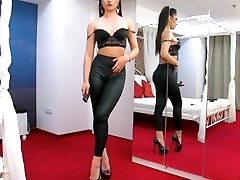 MadeleneRay - Big Ass On Leather & feather vs dukhther xxx Pants LiveJasmin Babes