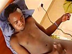 African Boy Paul Stroking Cock