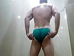 Sexy Riped Buff Hung Dude Flexen in Cock Sox Mens underwear Briefs Big Dick undies Video Zak Rogerz