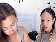 two sexy lesbian latina real couple teens kissing on web cam - justgirlskissing.com