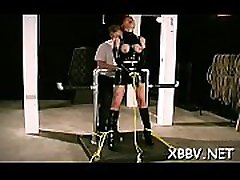 Obedient woman gets mambos stimulated in harsh bdsm torture