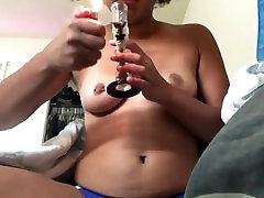 Smoking and Showing Off Fat Clit, Pt. 1