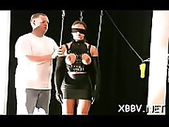 Rough scenes of bumpers torture with woman obedient in bdsm scenes