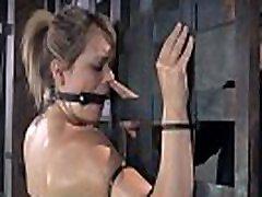 BDSM spying mom fingering herself oiledup and canned during bondage