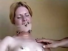 Girls get bounded jointly and titillated by a dildo